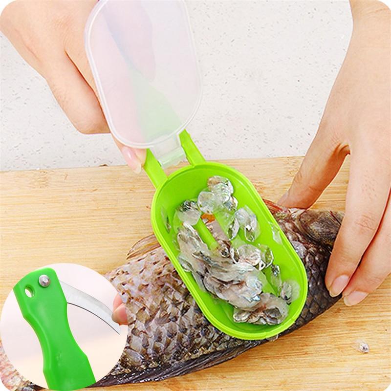 Kratzen Skala Töten Fisch Mit Messer Maschine Kreative Mehrzweck-Startseite Neuartige Versorgung Küche Garten Kochwerkzeug Sauber Bequem