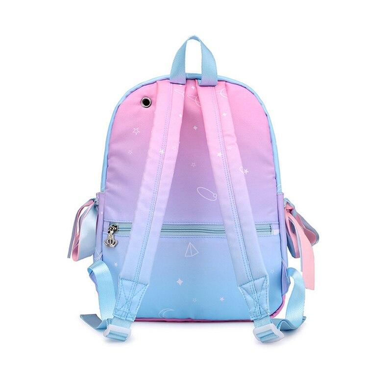 Image 5 - Starry Sky Backpacks For Girls School Children Schoolbags Primary School Book Bag School Bags Women Backpack Sac Ecolier Pink-in School Bags from Luggage & Bags