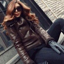 Женская мягкий новый зимняя куртка пальто лацкан теплый ягненка шерстяное пальто молния тепловоз парки для женщин