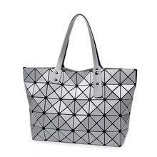 New Arrival Famous Designer Bao Bao Handbag Issey Matt surface Quilted Foldable Cube Shopping Bag Cool Women Shopping Bag