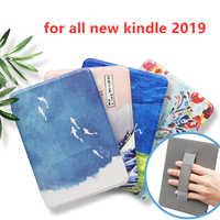 Para todos los nuevos Kindle 2019 más ligera de cuero de la PU cubierta inteligente para todo nuevo Kindle 10th generación 2019 liberado