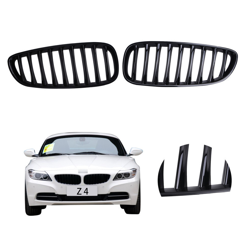 2x High Quality Gloss Black Front Center Kidney Grille Grills For BMW E89 Z4 Coupe Convertible 2009 - 2015//