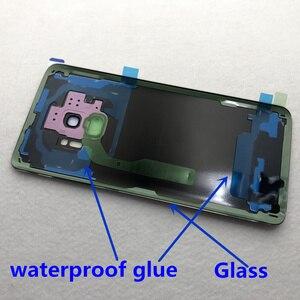 Image 5 - غطاء البطارية الخلفي الأصلي لسامسونج غالاكسي S9 Plus S9 + G960 G965 100% غطاء الباب الزجاجي الكاميرا الخلفية زجاج S9 الغطاء الخلفي