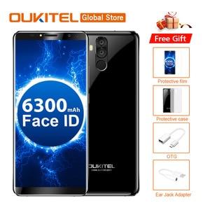 OUKITEL K6 18:9 Full Display Face Unlock 6.0''FHD 6GB RAM 64GB ROM MTK6763 Octa Core 21MP 4 Cameras 6300mAh NFC Mobile Phone(China)