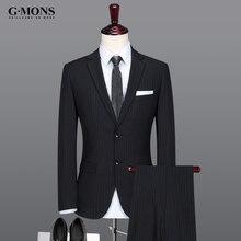 Brand Men Clothing Summer men suits tuxedo formal groom wedding suits Stripe Print England Style slim business wear 2pcs/3pcs