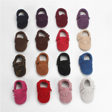 Classic Leisure Suede Genuine Leather Newborn Baby Kid Boy Girl Prewalkers Shoes Moccasin Moccs Crib First