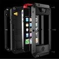 Противоударный водонепроницаемый телефон случаях Для iphone 6 6 s 5 5S 5SE Металлического Алюминия двойной защиты Прочный Закаленное стекло doom крышка