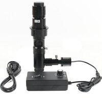 180X/300X коаксиальный зум объектив бестеневое коаксиальное освещение C mount устройства для микроскопа для HDMI VGA USB Viedo цифровой камеры