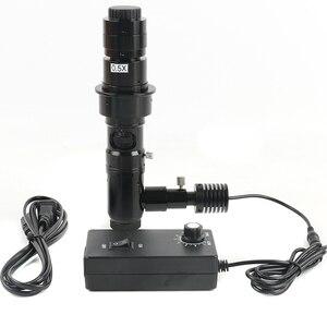 Image 1 - 180X/300X Koaksiyel zoom objektifi Farı ücretsiz Koaksiyel Işık C montaj Mikroskop Aksesuarları Için HDMI VGA USB Viedo dijital kamera