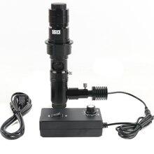 Lente de Zoom Coaxial 180X/300X, luz Coaxial sin sombra, accesorios de microscopio de montaje en C para cámara Digital HDMI VGA USB Viedo
