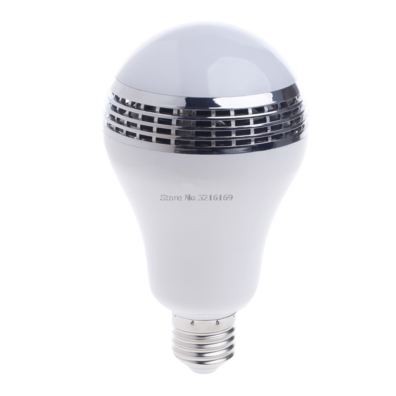 For 1PC APP E27 Remote Control Lamp Bulb LED Speaker Bluetooth Music LED RGB Light Promotion speaker bluetooth led rgb light music large bulb lamp color changing via wifi app control mp3 player wireless bluetooth speaker