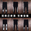 men casual pants with a male hip hop casual pants Leggings winter male ladies tights couple warm feet
