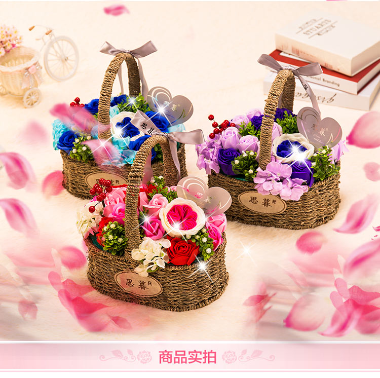 Ornaments Simulation-Roses Gift Girlfriend Creative And Send Bouquet Soap Flower Birthday-Ch