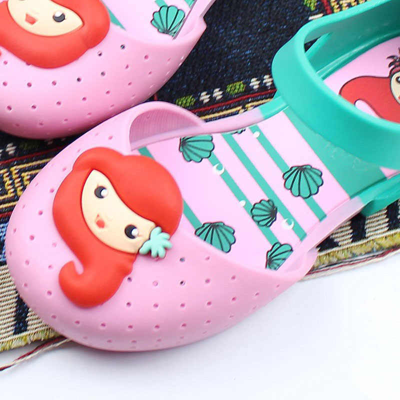 bdde64daa31380 ... Children Shoes Girls Shoes Brand Summer Autumn Fashion Little Mermaid  Princess Sandals Kid Designer Single Sandals ...