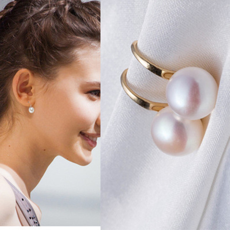 Women's fashion simple pearl earrings genuine freshwater nature jewelry wholesale bride