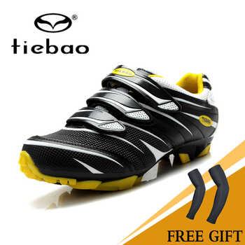 TIEBAO Cycling Shoes Road Racing TPU Soles Mountain Bike Mtb Shoes Men Bicycle Sport Breathable Triathlon Sapatilha Ciclismo Mtb