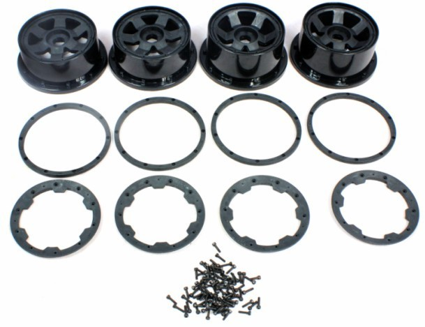 5T super star wheel with beadlock ring and screws For 1/5 HPI Baja 5B 5T gtbracing 2 front and 2 rear wheel hub rim with beadlock ring for 1 5 hpi baja losi 5ive t rovan km