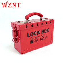 12 padlock Safety Red box Group Lockout Box lockout safety supply ball valve lockout 1 5 2 5 diameter red