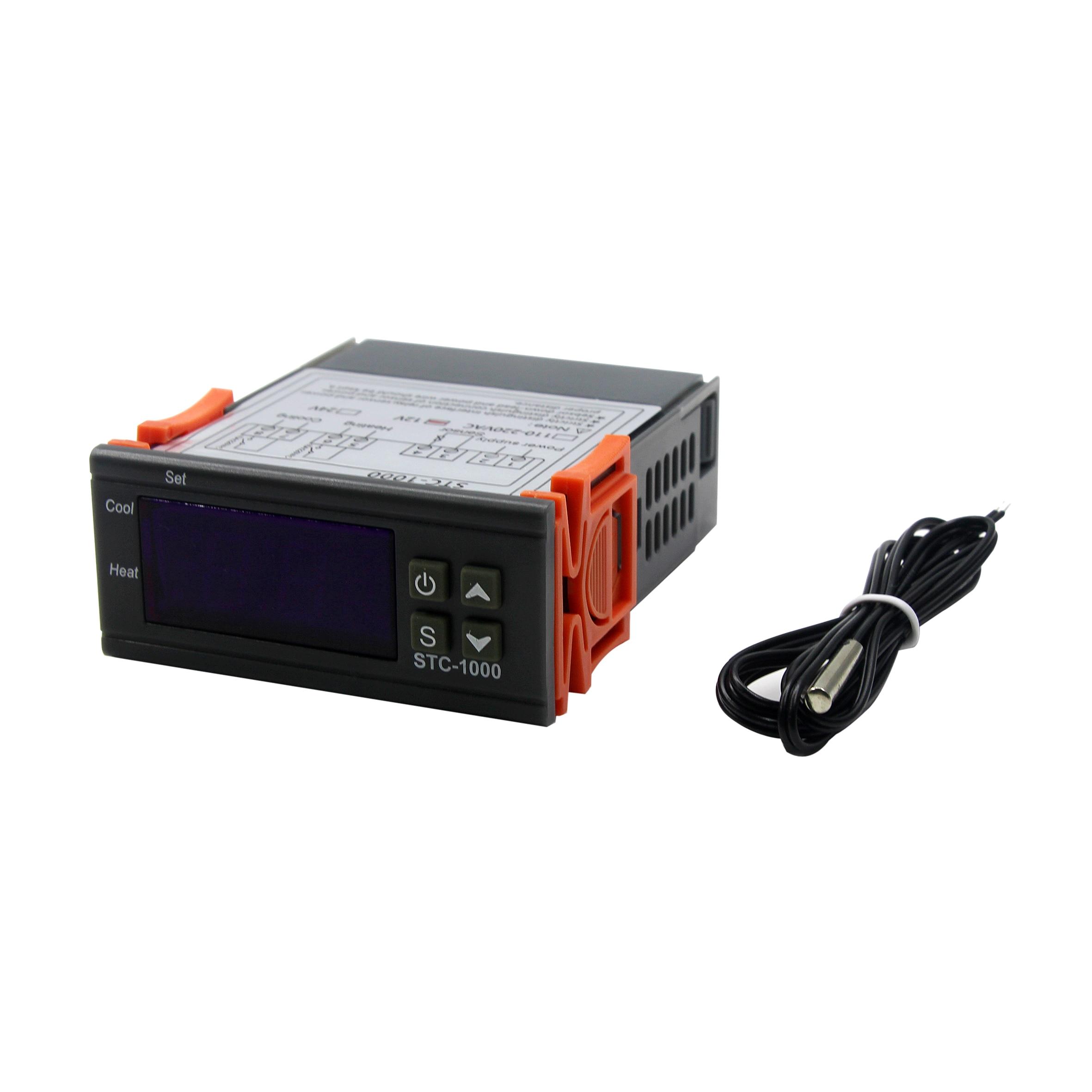 СВЕТОДИОДНЫЙ цифровой регулятор температуры STC-1000 12 В 12 в 24 В 220 В термостат и управление кулером нагревателя