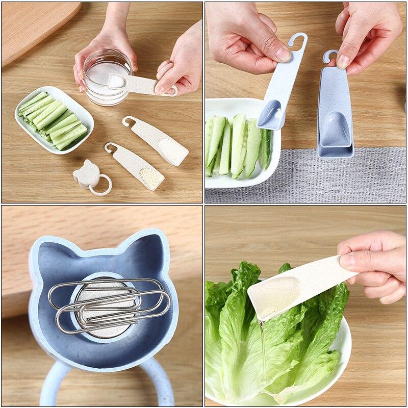 Milk Powder Baking Tool Measuring Spoon Four-piece Set Handle Gram Measuring Spoon For Tea Coffee Kitchen Measuring Tool