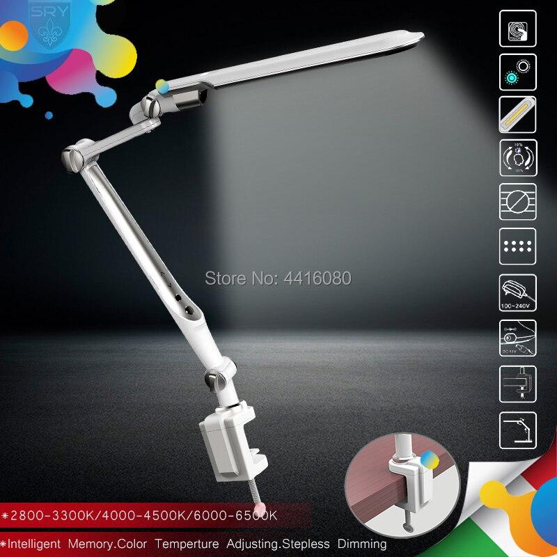Italie SL-TL316 Clip led lampe de bureau table de bureau lampe étudiant lampes de lecture mode lumières Livraison Angle de rotation Mémoire fonction 10 W