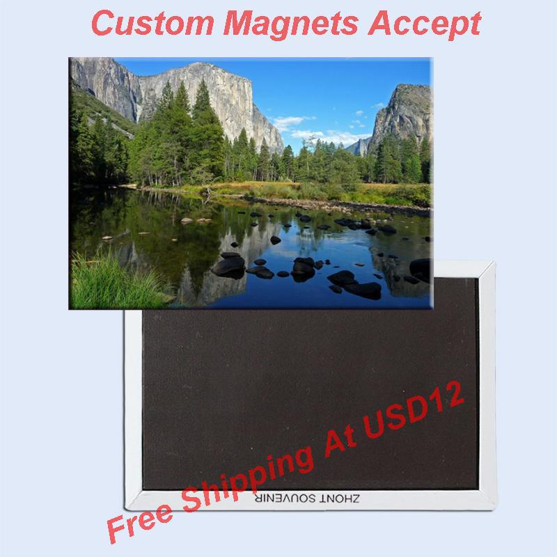 USA Travel Magnets Gifts , Manhattan, California Yosemite National Park Rectangle Metal Fridge Magnet 5489 Tourism Souvenir
