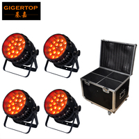 TIPTOP Led Zoom Par Light Outdoor 18x12W RGBW 4IN1 Tyanshine China Stage Light Manufacturer LCD Display Flightcase Pack 4IN1
