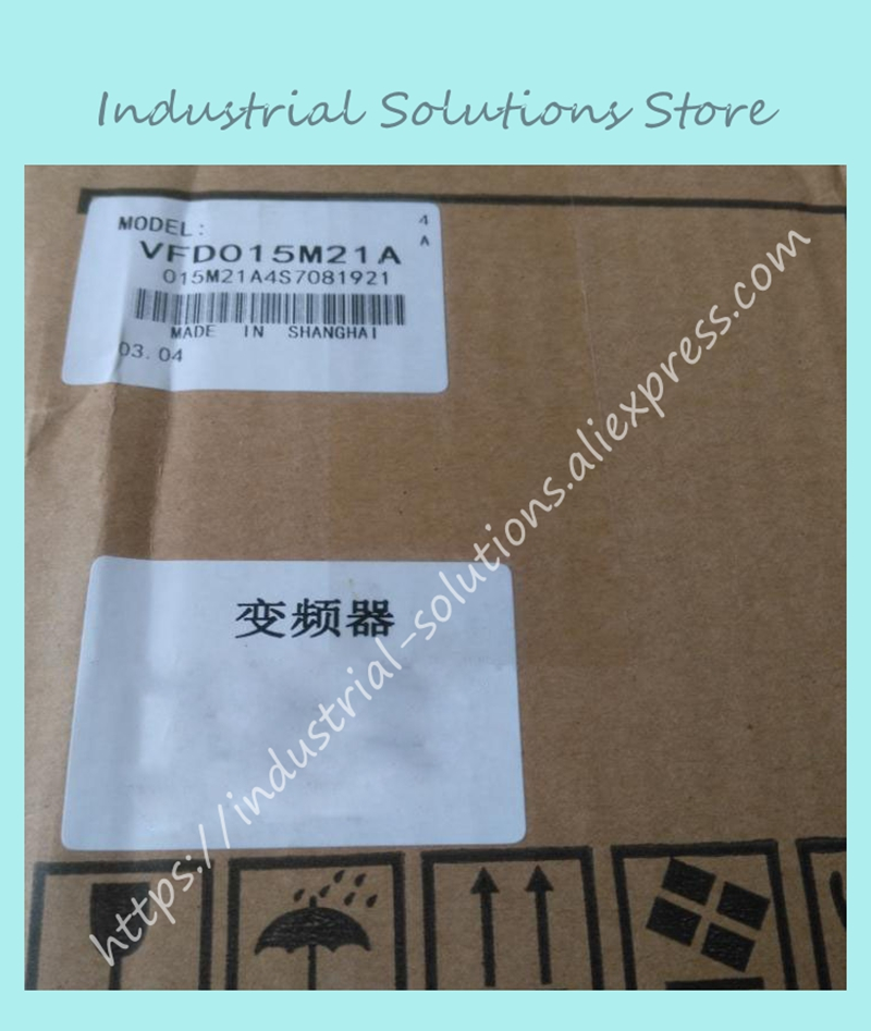 VFD Inverter VFD015M21A Frequency Converter 1.5kw 2HP 1PHASE 220V 400HZ New In Box vfd750cp43b 21 delta vfd cp2000 vfd inverter frequency converter 75kw 100hp 3ph ac380 480v 600hz fan and water pump