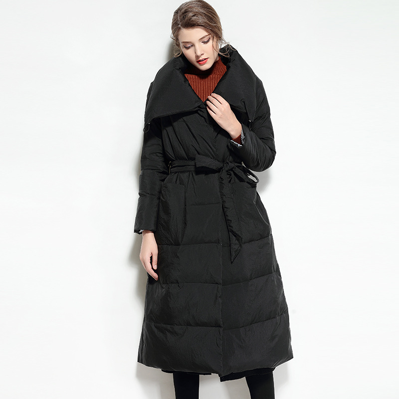 Luxury Winter Jacket Vintage Coat Light Korean Down Women ...
