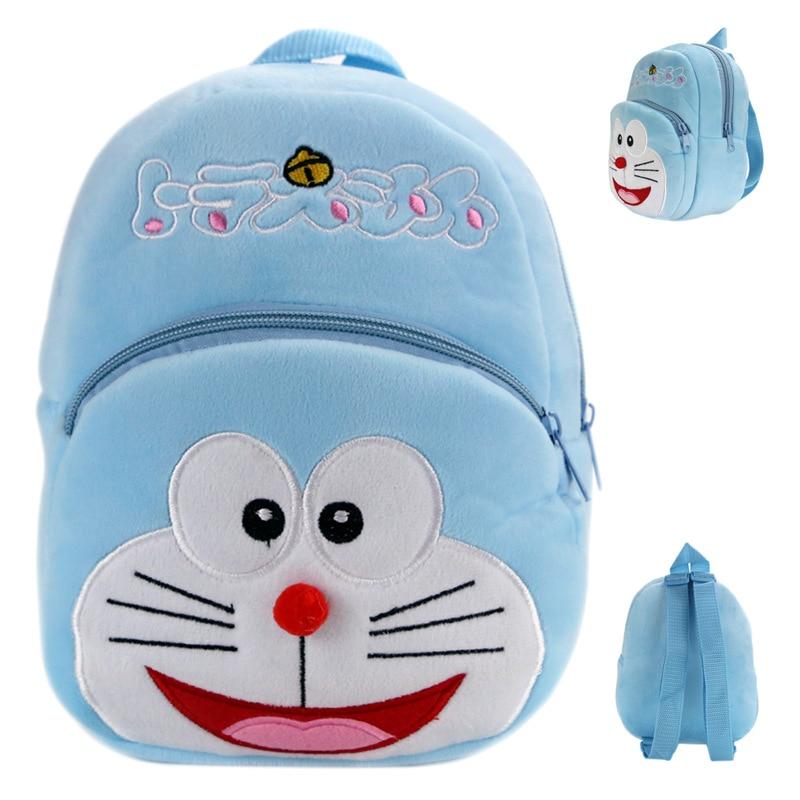Kawaii Cartoon Doraemon Kids Plush Backpack Toys Mini Schoolbag Childrens Gifts Kindergarten Boy Girl Baby Student Bags Mochila