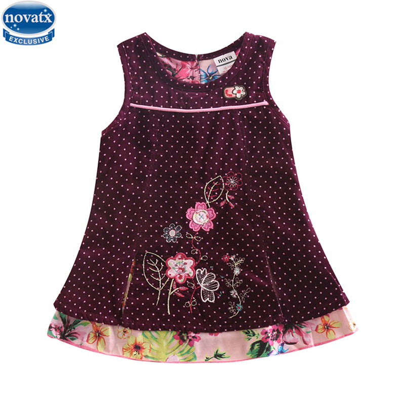 novatx H5106 kids wear New Summer Children Girl Sleeveless Dress Kids Clothes Cotton Child Party Princess Girl Dress 2017 new summer children girl long sleeve lace dress kids clothes cotton child party princess tank girl dress sundress age 2 10y