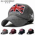 2017 ola de la moda Coreana de la gente en otoño e invierno British Union Jack bordado gorro de lana sombrero caliente al aire libre de béisbol cap