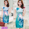 2016 Time-limited Sale Cotton Dobby Chinese Dress Qipao 2017 Cheongsam Fashion Dress National Chinese Wholesale Factory