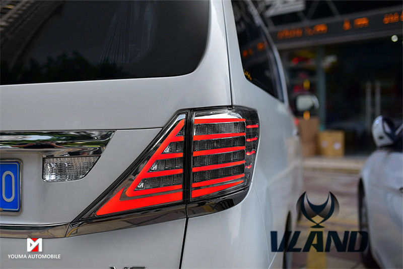 Free shipping Vland Car Lamp for Toyota Alphard 20' LED Taillights for Vellfire LED Sequential Turninig Taillamp fit 2007-2014 free shipping vland car lamp for toyota