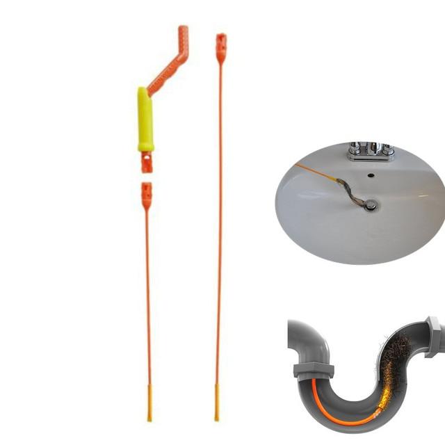 Drain Weasel Hair Anti Clog Tool Starter Kit Flexible Drain Snake Clog Wand  Perfect For