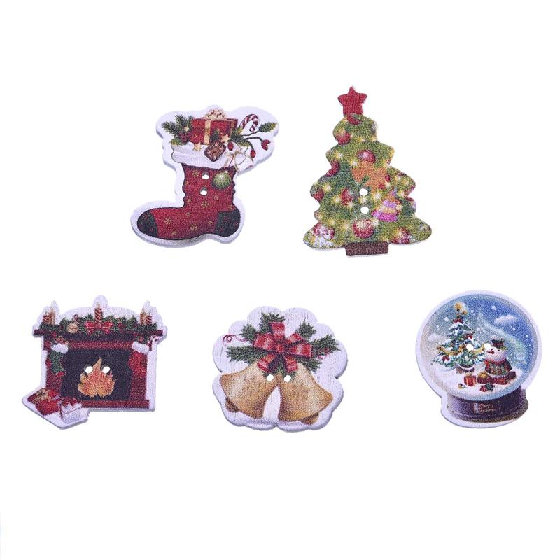 unids mixta de costura de madera botones ropa botones botones decorativos para decoracin