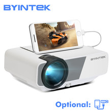 Byintek Langit K1/K1plus LED Portable Home Theater HD Mini Proyektor (Opsional Kabel Sync Menampilkan untuk iPhone iPad ponsel Tablet)(China)