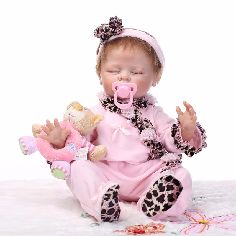 """16/"""" realistico RINATO Baby PIENO in silicone Handmade bambola A Pelo Neonato Ragazza Regalo"""