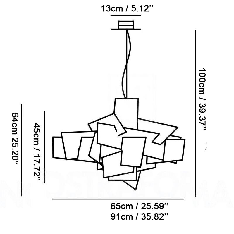 Nova dizajnerska svjetiljka Privjesci za privjeske sa velikim - Unutarnja rasvjeta - Foto 6