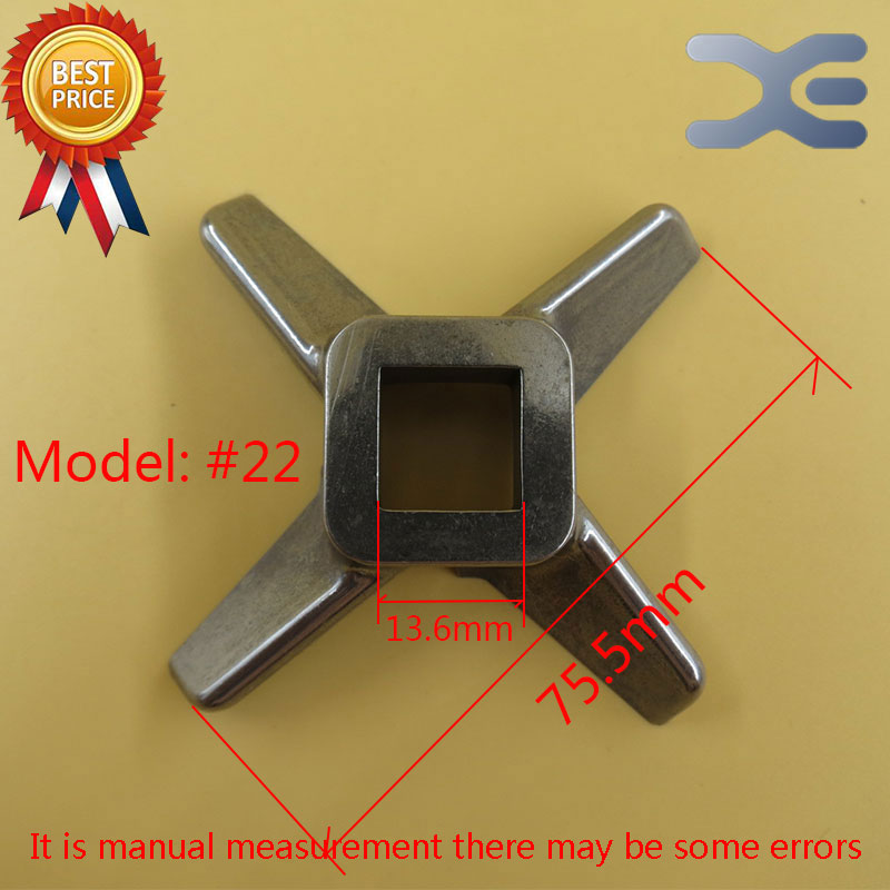 5Per Lot Kitchen Appliance Parts 22 Right Angle Knife Type Meat Grinder Knife Stainless Steel Meat Grinder Parts
