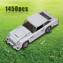 Compatibel Withtechnic Serie 10262 Aston Martin DB5 Set Bouwstenen Bakstenen Kinderen Auto Model Geschenken Speelgoed