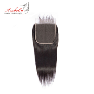 Image 3 - 6*6 Lace Closure Brazilian Straight Closure Natural Color Arabella Remy Hair Pre Plucked Bleached Knots Closure With Baby Hair