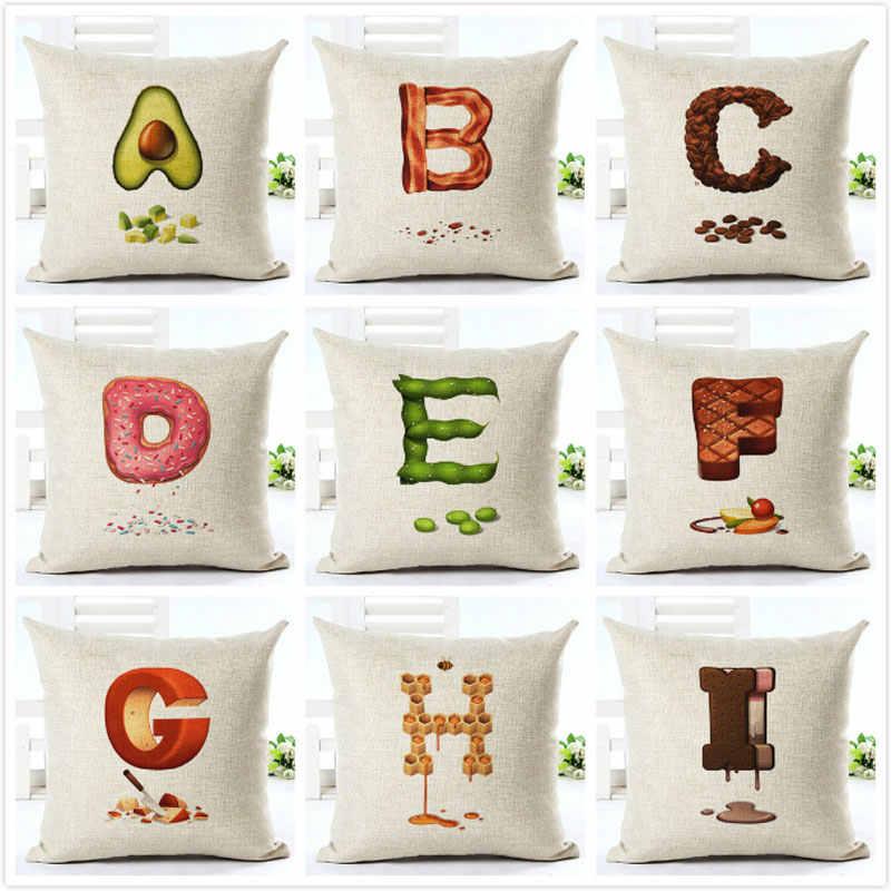 Cuscini Decorativi Per Bambini.Cuscino Cuscini Decorativi Frutta Alfabeto Per Bambini Di