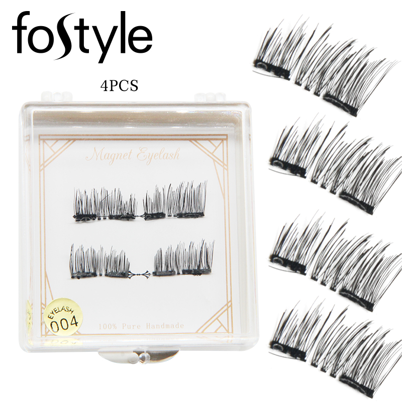 beauty products 6D Magnetic Eye Lashes Double Magnet False Eyelashes Makeup Hand Made Strip Lash cilios posticos extensao cilios