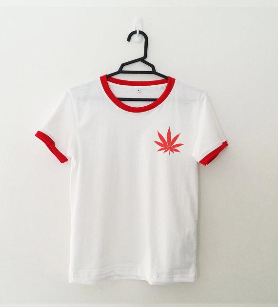 Unkraut Hemdtasche Ringer T Lustige T Shirt Graphic Tees Tumblr