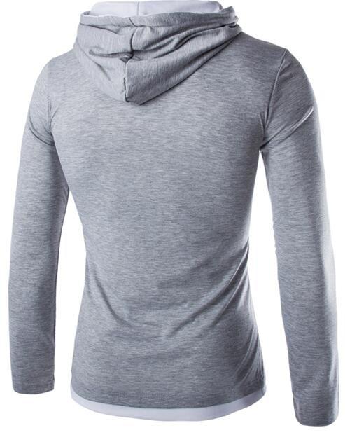 HTB1Th6RJpXXXXabXVXXq6xXFXXX8 - T Shirt Men Brand 2018 Fashion Men'S Hooded Stitching Design Tops & Tees T Shirt Men Long Sleeve Slim Male Tops  XXXL OOISH