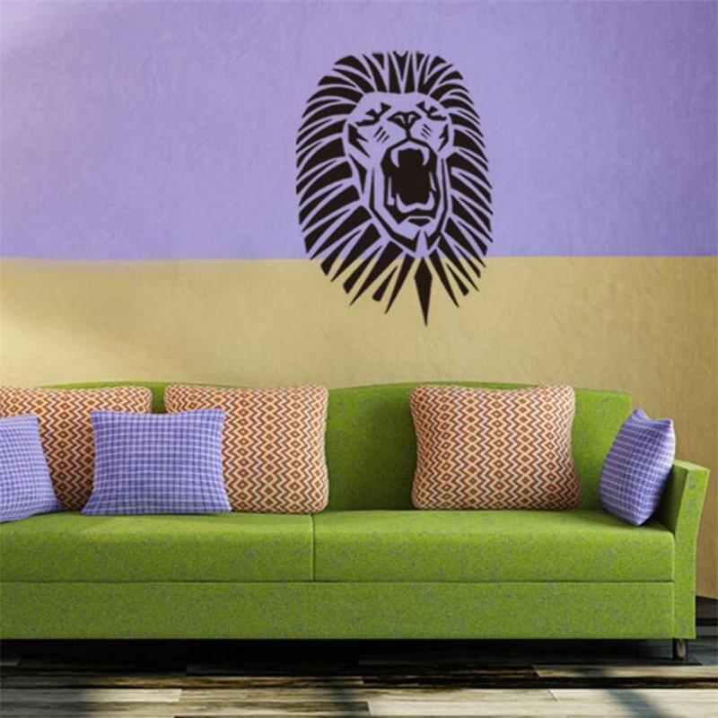 IDFIAF Cute Tribal Lion King Jungle Animal Wall Stickers Large Lion ...