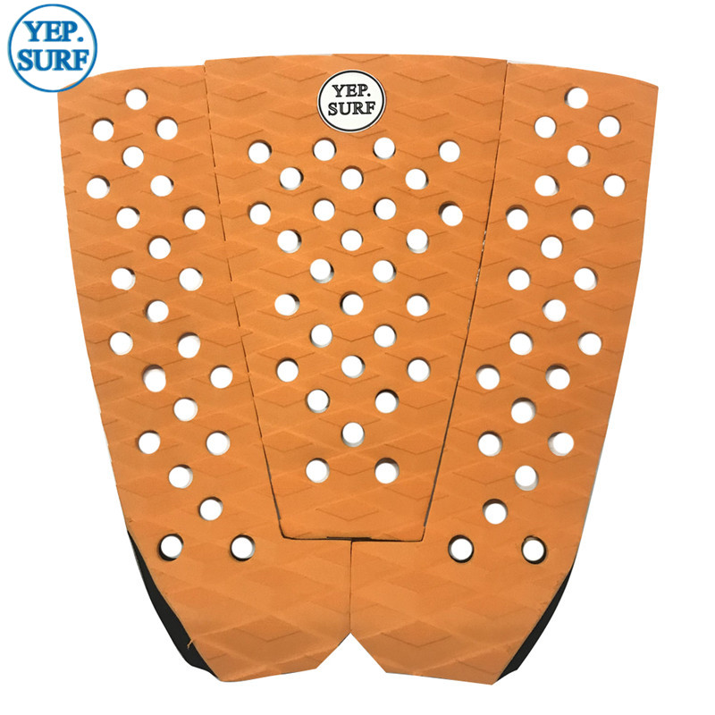 Free Shipping EVA Deck Pad Orange Pad Surfboard Traction Pad Surf Pads Grip Pranchas De
