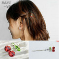 Hot Selling Fashion Cute Red Cherry Hairpins Hair Accessories For Hair Clips