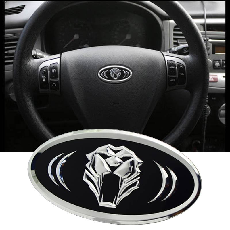 Tiger head Steering Wheel Badge 6.2X3.2cm for KIA RIO SPORTAGE 2013 2014 CEED CERATO SORENTO SOUL K5 K2 K3 K7 modern IX35 new product factory price high quality steering wheel audio control buttons for kia k2 rio steering wheel button